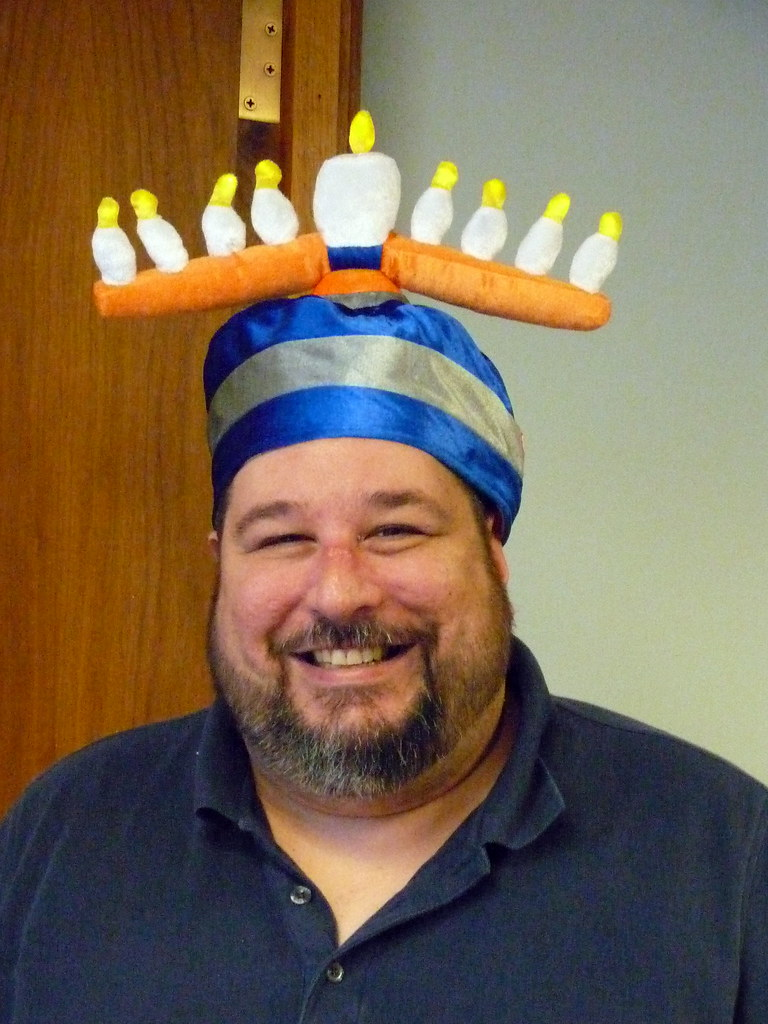 The light-up menorah hat   More fun in the office.   Flickr