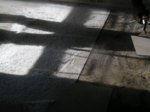 Dry Ice Asbestos Floor Tile Removal View Of 9 Quot X9