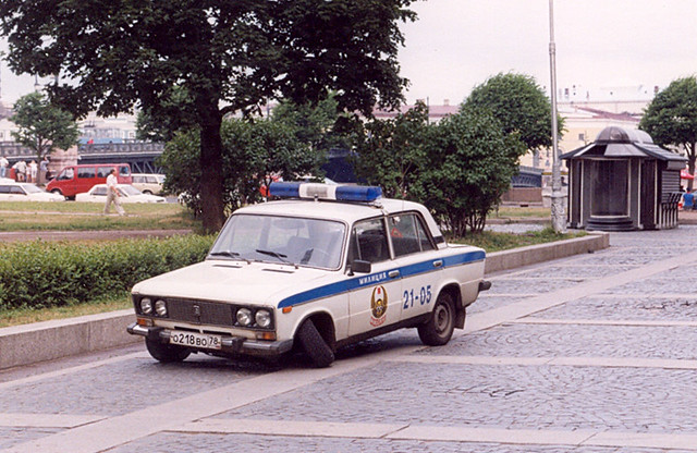 St Petersburg Police Car I Saw This Broken Down Lada