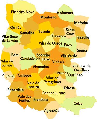 vinhais mapa Concelho de Vinhais   Mapa das freguesias   Jorge Bastos   Flickr vinhais mapa