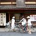 biking along sannen zaka, kyoto