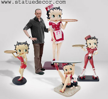 betty boop life size statue waitress | statue decor | Flickr