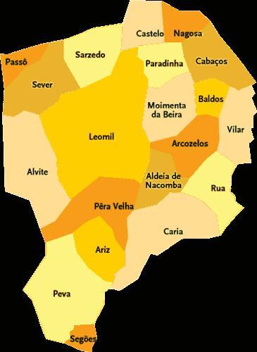 mapa de portugal moimenta da beira Concelho de Moimenta da Beira | Mapa das freguesias | Jorge Bastos  mapa de portugal moimenta da beira