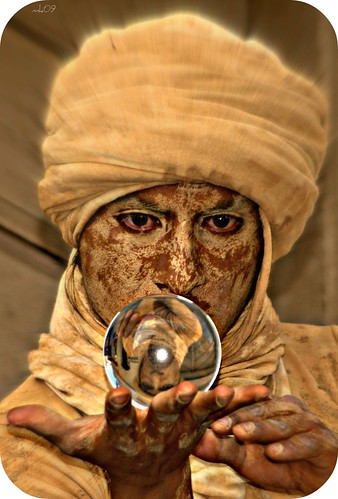 The fortuneteller and the crystal ball | by Kraetzsche