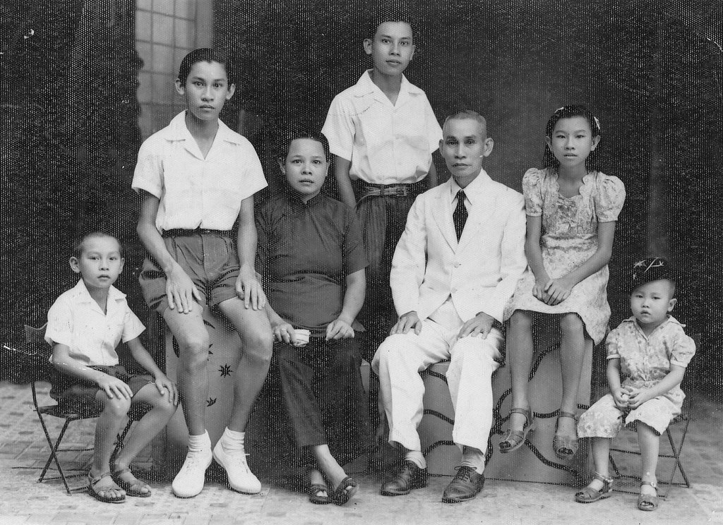 Malay Chinese Family In Singapore 1950s A Peranakan