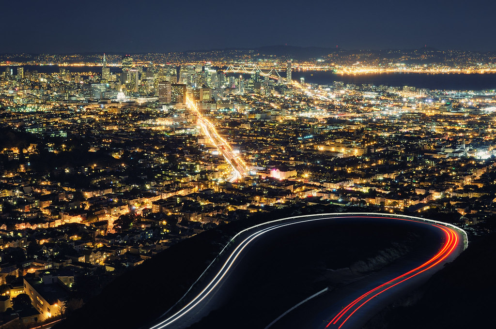 San Francisco At Night From Twin Peaks 30 Second