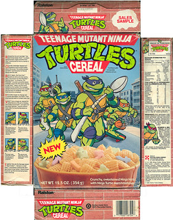 "Ralston ::""TEENAGE MUTANT NINJA TURTLES"" CEREAL - Sales Sample i (( 1989 )) 