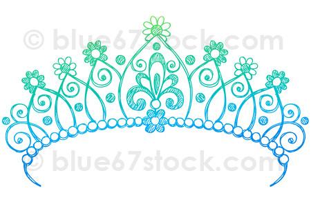 Hand Drawn Sketchy Princess Tiara Crown Doodle Drawing Vec Princess Tiara Drawing