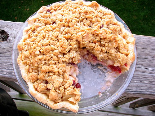 Pear Cranberry Crumble Pie | by Tracey's Culinary Adventures