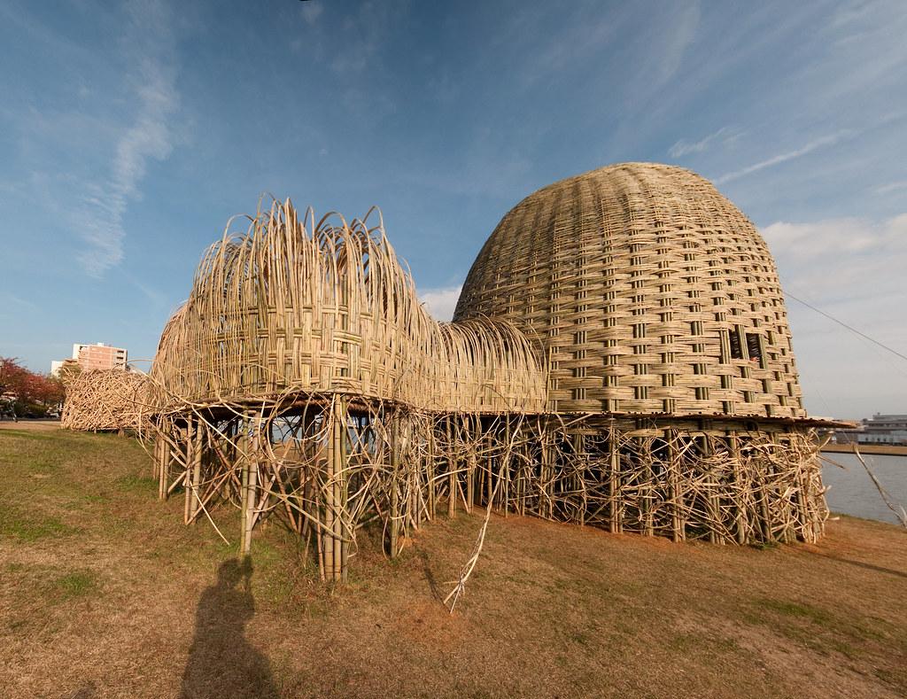 Bamboo house pavilion, Niigata   Bamboo house pavillion by