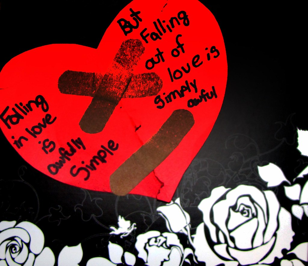 Band Aids Cant Fix A Broken Heart Falling In Love Is Awf Flickr