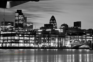 City view at night B+W | by Made In London