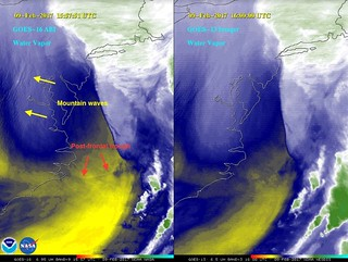 GOES-16 and GOES-13 Water Vapor Imagery of Winter Storm | by NOAASatellites