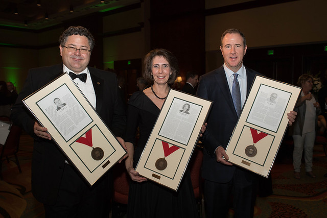 Pictured from left to right are Todd May, Paula Marino and Billy Harbert.