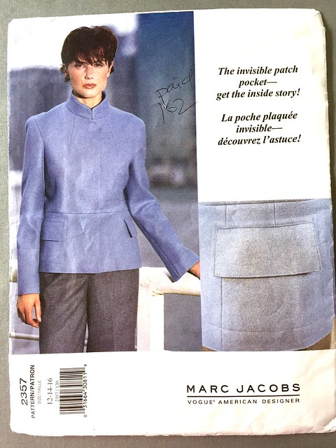 Vogue 2357 jacket pattern