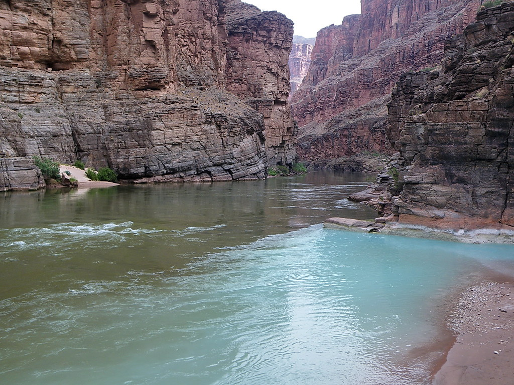 Havasu Creek Confluence At Colorado River Grand Canyon
