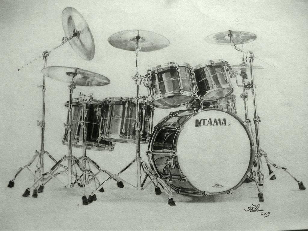Tama Drums | Batera TAMA... desenho à mão... drawing by ...