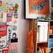 studio: pinboard and shelf