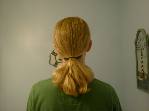 Boy With A Long Blonde Ponytail Blackenedboy Flickr