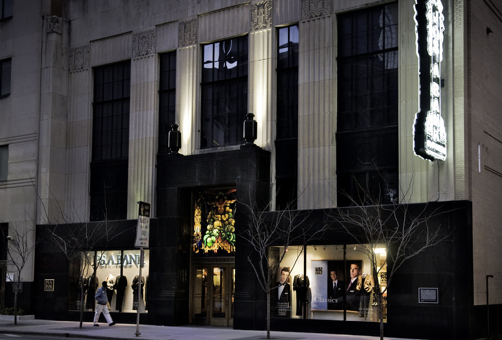 Night Dallas Power And Light Building 1931 1508 Commer