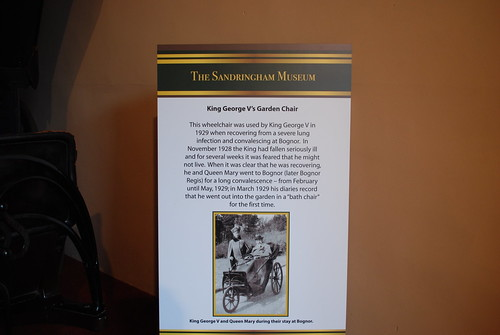 Sandringham - Museum King George V's Garden Chair Information Notice | by Le Monde1