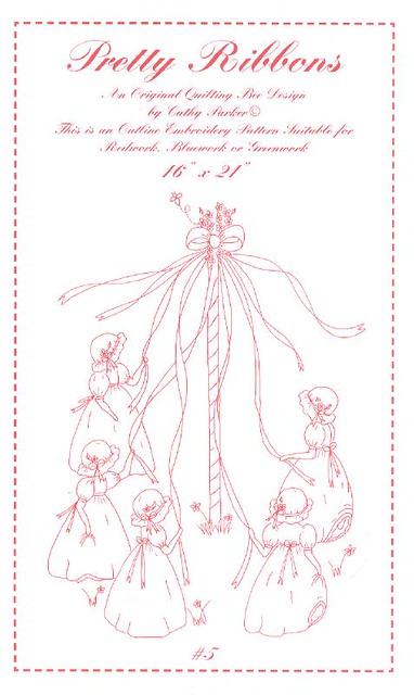 Maypole pattern Redwork embroidery pattern by Quilting Bee? Flickr
