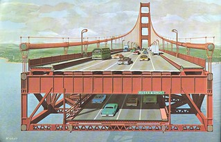 Double-deck Golden Gate Bridge: cross section (1968) | by Eric Fischer
