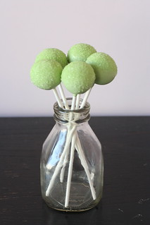 Green Sparkle Sugar Cake Pops | by Sweet Lauren Cakes