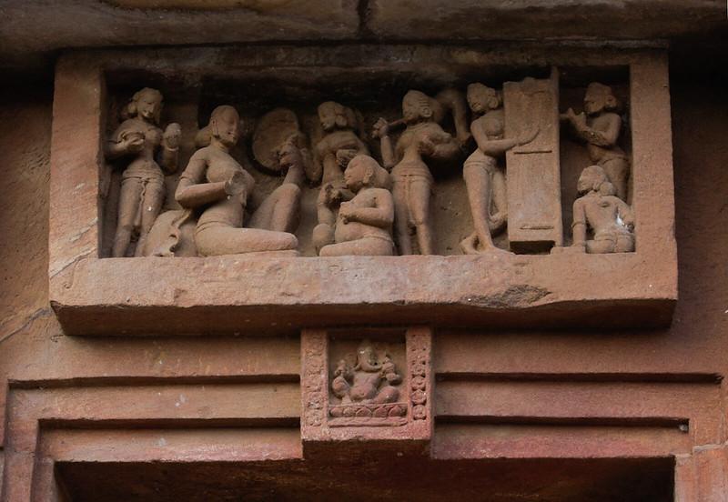 Unknown woman teacher with Ganesh