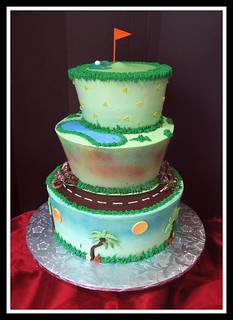 Golf Themed Birthday Cake | by Graceful Cake Creations