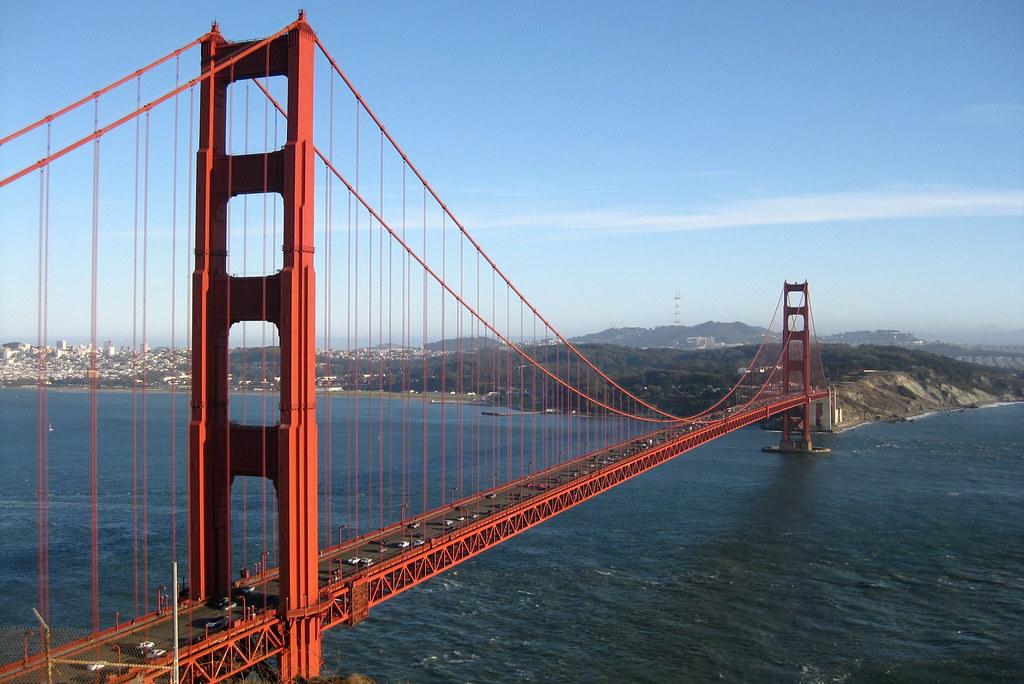 san francisco golden gate bridge from battery spencer