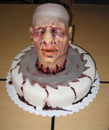 Halloween cake art head 3 | by Shane's Flying Disc Show