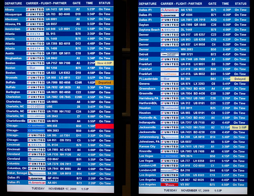 Departure And Arrival Board At Dulles Airport | by paul_houle