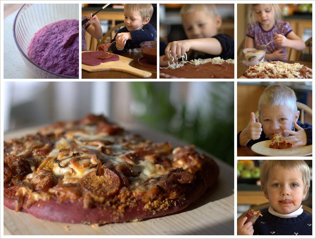 Purple Pizza Eaters   Alpine Weekly . Food Purple dough via ...