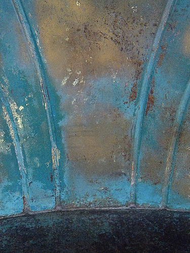 turquoise chair abstract