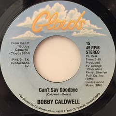 BOBBY CALDWELL:CAN'T SAY GOODBYE(LABEL SIDE-A)