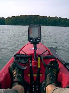 Fishfinder mount on hobie kayak jeff shamma flickr for Kayak fish finder mount