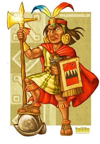 Inca Warrior Caricature Inca Warrior Caricature