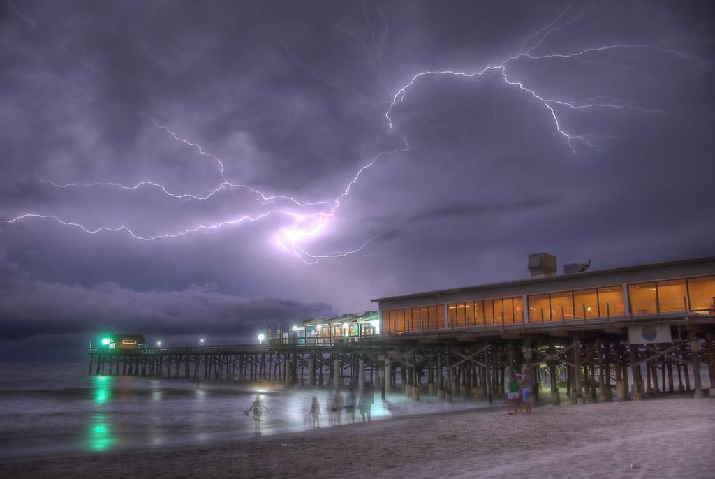 Cocoa Beach Pier Cocoa Beach Pier Lightning
