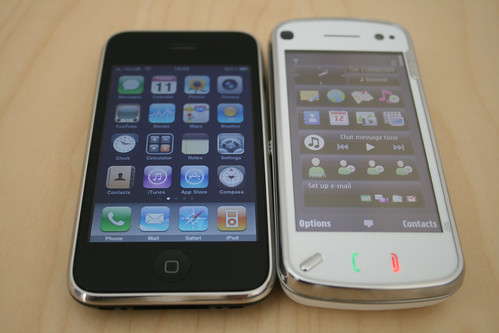 Nokia N97 and iPhone 3GS | by William Hook