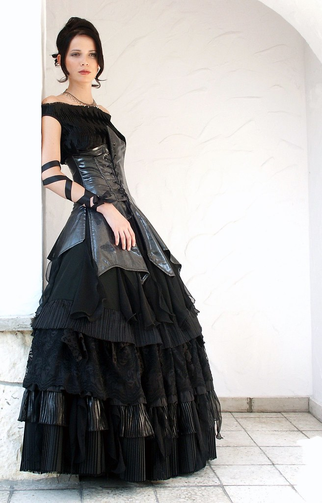 Bella p black wedding dress lukasz dunikowski flickr black wedding dress by dunikowski junglespirit Images