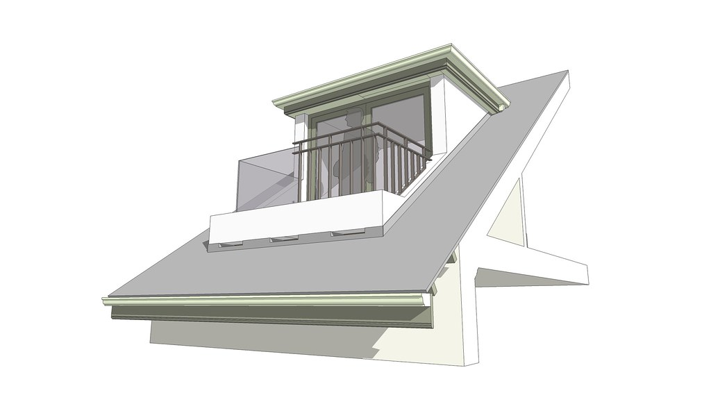 Room in a roof dormer balcony 01 interior detail room flickr - Houses with attic and balconies ...