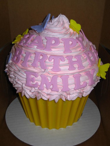 Giant Cupcake 1st Birthday For A Girl The Customer Gave