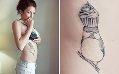 cupcake birdy tattoo | by blue eyed fawn