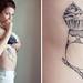 cupcake birdy tattoo