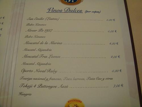 Restaurante puerta 57 madrid vinos de postre pablo for Puerta 57 restaurante madrid
