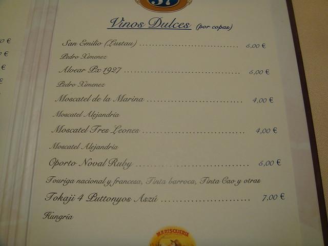 Restaurante puerta 57 madrid vinos de postre by for Puerta 57 bernabeu