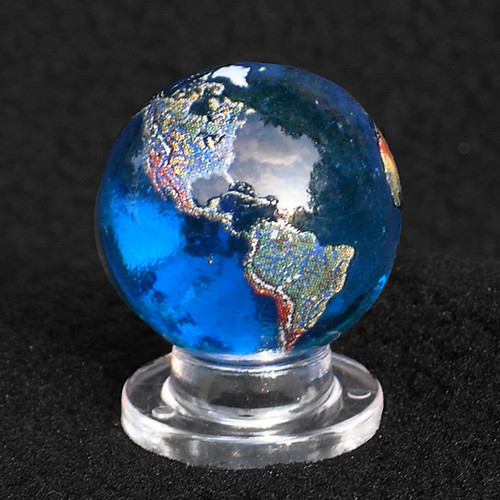 Planet Earth Marble Globe North South America Adorable