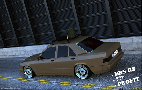 mercedes 190e w201 bbs rs wheels 3d low and wide like. Black Bedroom Furniture Sets. Home Design Ideas