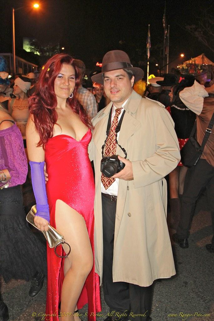 Roger rabbit and jessica rabbit costumes
